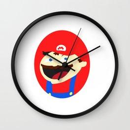 Mischievous Plumber Wall Clock