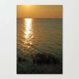 sunset over the sound side Canvas Print