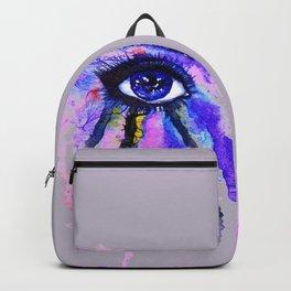 Blue eye splashing Backpack