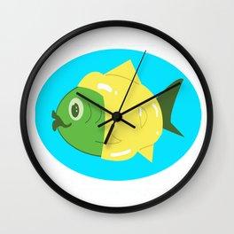 Rain Coat Fish Wall Clock