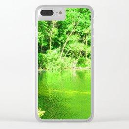 Quiet Pond Clear iPhone Case