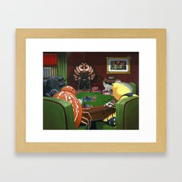 Spiders Playing Poker Framed Art Print