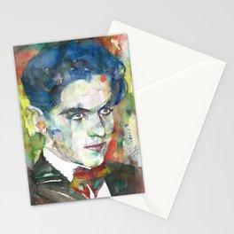 FEDERICO GARCIA LORCA watercolor portrait.4 Stationery Cards