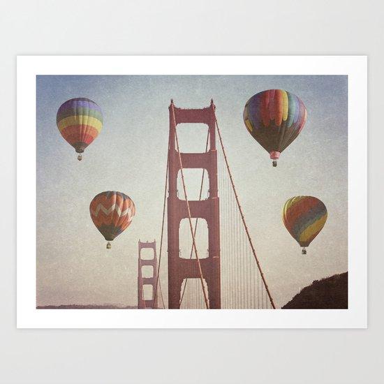 Golden Gate Balloons Art Print