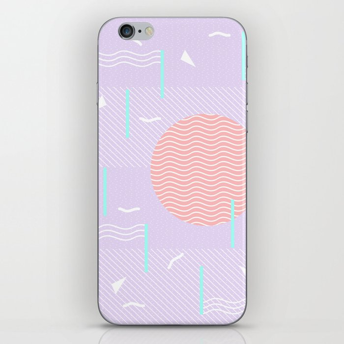 Memphis Summer Lavender Waves iPhone Skin