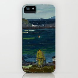 The Harbor, Monhegan Coast, Maine, 1913 iPhone Case