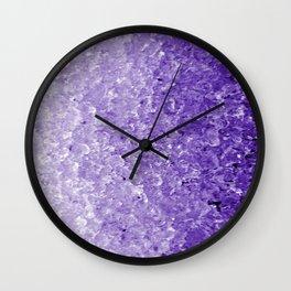 Purple ice Wall Clock