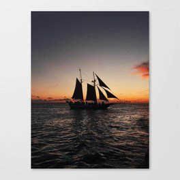 Sunset Sailboat Canvas Print