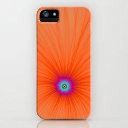 Tangerine Color Explosion iPhone Case