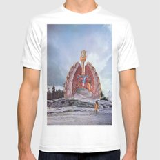 They came out from the deep Mens Fitted Tee MEDIUM White
