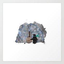 Friends Through The Fog Art Print