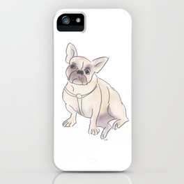 Cafe Dogs: Binkie the Frenchie iPhone Case