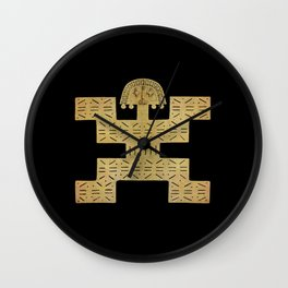 Pectoral Pre-Columbian Gold Piece Wall Clock