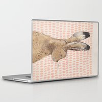 hare Laptop & iPad Skins featuring Hare by stephanie cole DESIGN