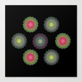 transparent floral patterns 2 Canvas Print