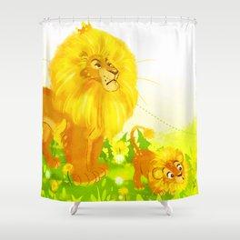 Dandelion King Shower Curtain