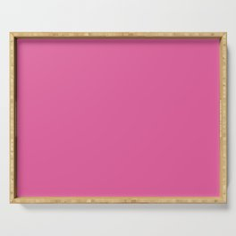 Bright Pink Cupcake Simple Solid Color Serving Tray