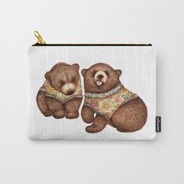 Cute & Cozy Cubs - Brown Bear Pair Carry-All Pouch