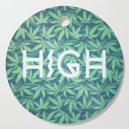 HIGH TYPO! Cannabis / Hemp / 420 / Marijuana  - Pattern Cutting Board