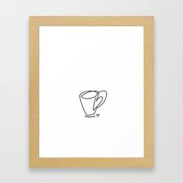 Cuppa Candor [Ivory] Framed Art Print