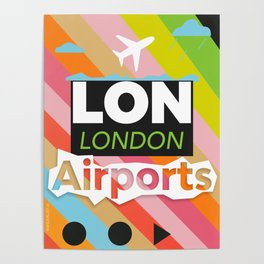 LON airports modern Poster