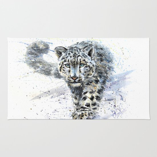 Snow Leopard Rug By Kostart Society6