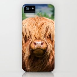 Cute Long-haired cow iPhone Case