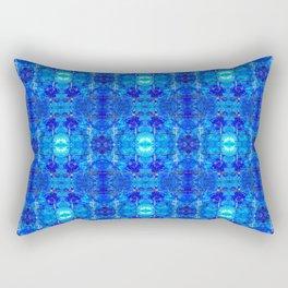Pattern 50 - Blue plastic recycling bottles Rectangular Pillow