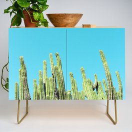 Desert Cactus Reaching for the Blue Sky Credenza