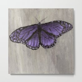 A Purple Butterfly Metal Print