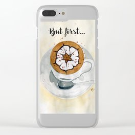 Cappuccino Clear iPhone Case