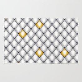 Fish Scale Pattern Design Rug