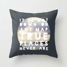 Maps(2) Throw Pillow