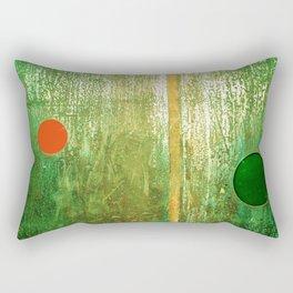 Metallic Face (Green Version) Rectangular Pillow
