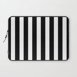 Classic Black and White Football / Soccer Referee Stripes Laptop Sleeve