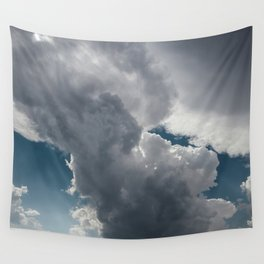 Clouds in the blue sky Wall Tapestry