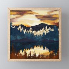 Fall Sunset Framed Mini Art Print