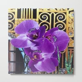 Art Deco Flower Metal Print