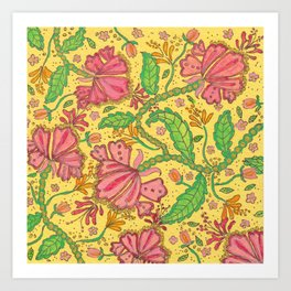Florally Floral Town Art Print