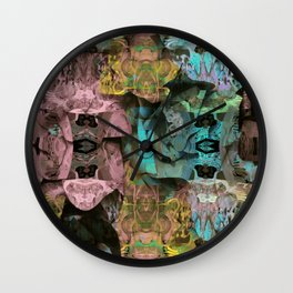 Surreal Floral Intricate Visionary Print Wall Clock