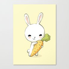 Bunny Carrot 2 Canvas Print