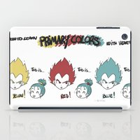 vegeta iPad Cases featuring Primary Colors with Vegeta by AlyTheKitten
