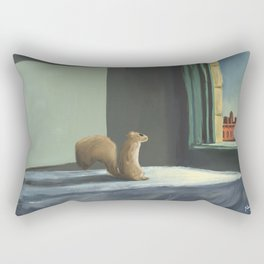 Sunday Morning Squirrel Rectangular Pillow