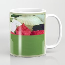 Mixed Color Poinsettias 2 Merry Christmas Q5F1 Coffee Mug