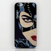 catwoman iPhone & iPod Skins featuring Catwoman by Cassidy Dawn