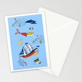 Mermaid Pirate iphone case by Krista von Blohn Stationery Cards