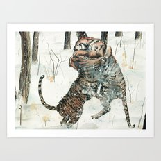 Tigers at Play Art Print