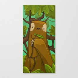 Sally the Sloth Canvas Print