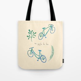 Me gusta la bici Tote Bag