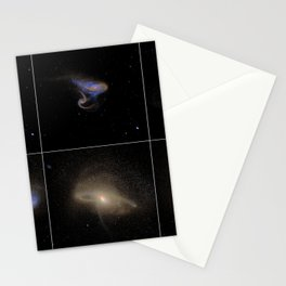 Hubble Space Telescope - Simulated images of merging galaxies Stationery Cards